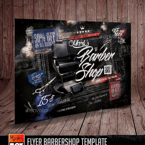 Flyer Barbershop Template
