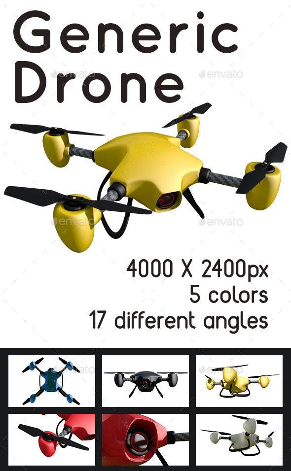 Generic Drone - 3D Renders Graphics