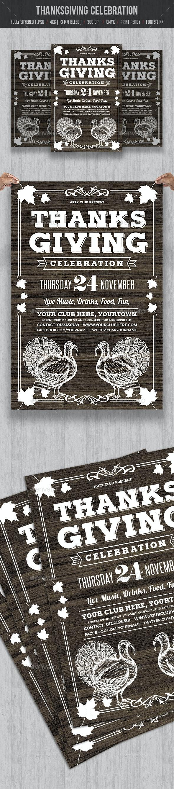 Thanksgiving Celebration - Events Flyers