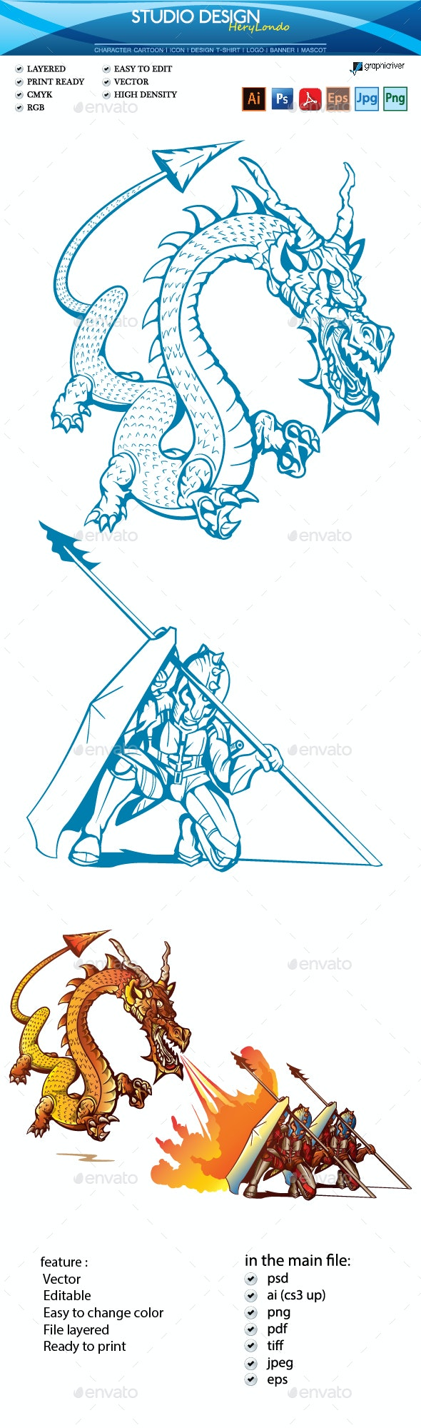 The Dragon vs Warrior - Miscellaneous Characters