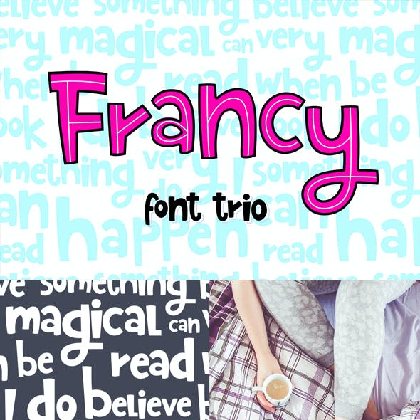 Francy Typeface - Creative Font Trio