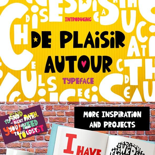 De Plaisir Autour - typeface