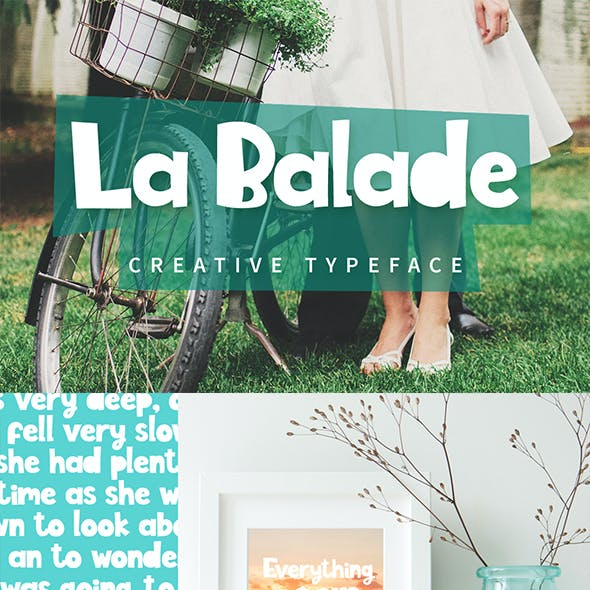 La Balade - Creative Typeface