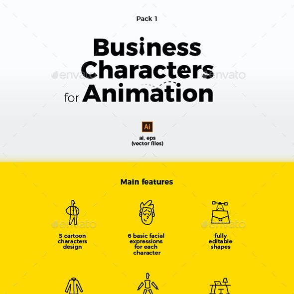 Business Characters Collection for Animation and Motion Design