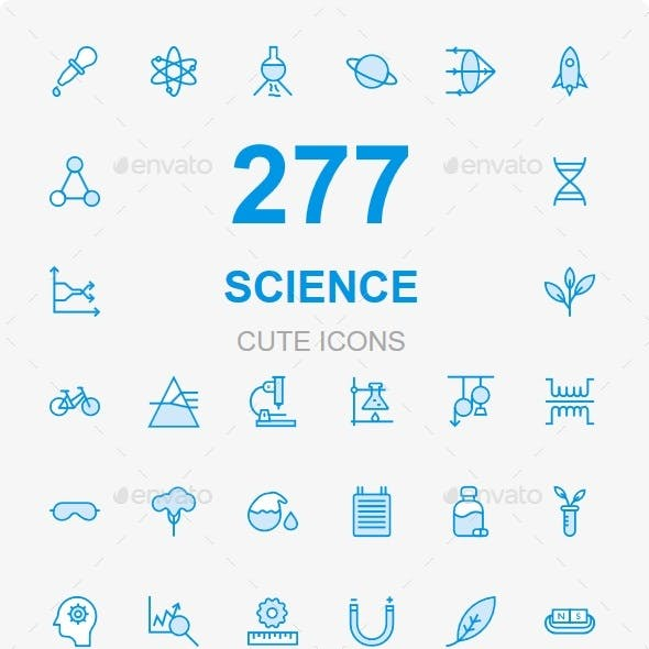 250+ Science cute icons