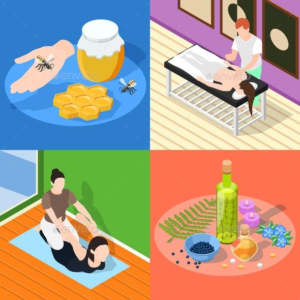 Alternative Medicine 2x2 Design Concept - Business Conceptual