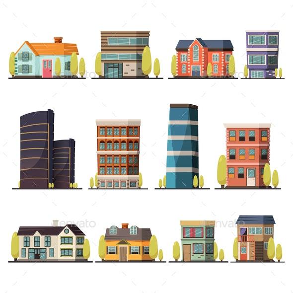Living Buildings Orthogonal Set - Industries Business