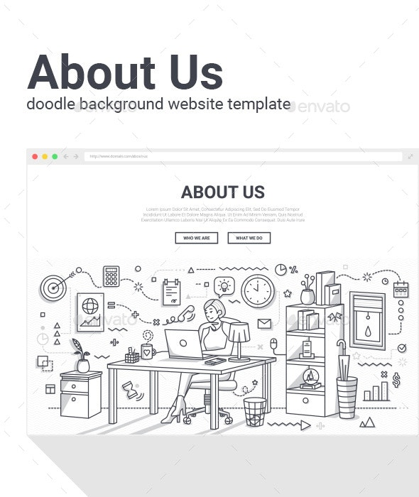 About Us Page - Vectors