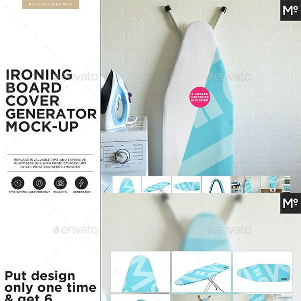 Ironing Board Cover Generator Mock-up