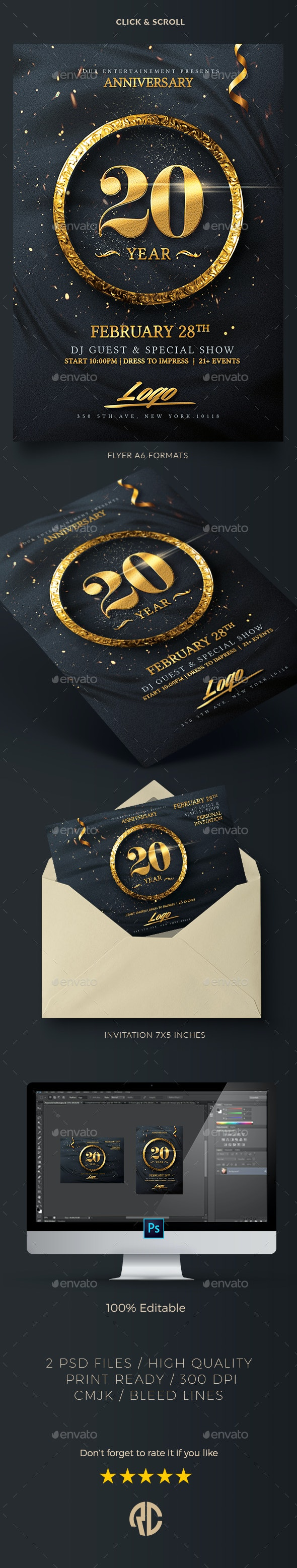 Classy Birthday Invitation - Events Flyers