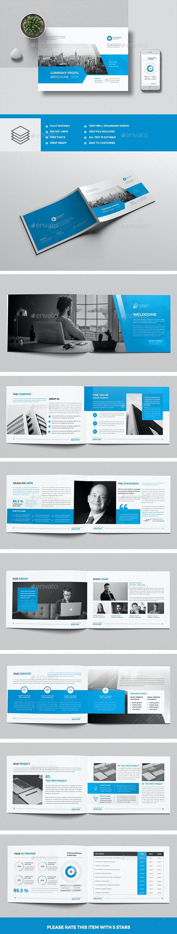 The Blue Corporate Brochure Landscape - Corporate Brochures