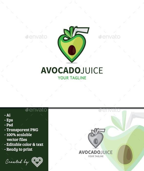 Avocado Juice - Food Logo Templates