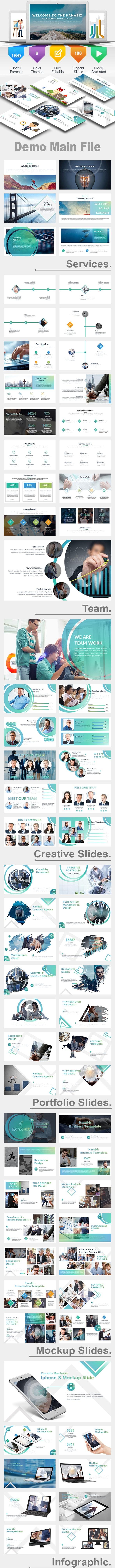Kanabiz Business PowerPoint Template - Creative PowerPoint Templates