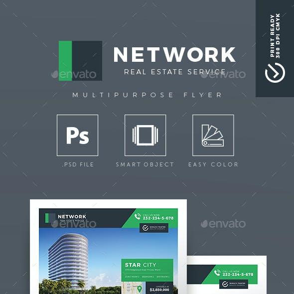 Network v.02 - Creative Real Estate Flyer