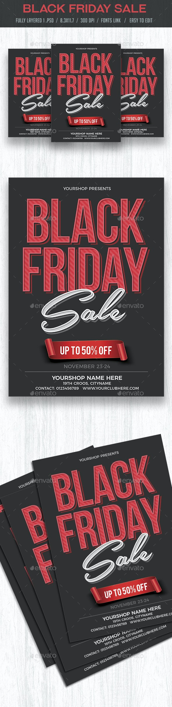 Black Friday Sale Flyer Poster - Commerce Flyers