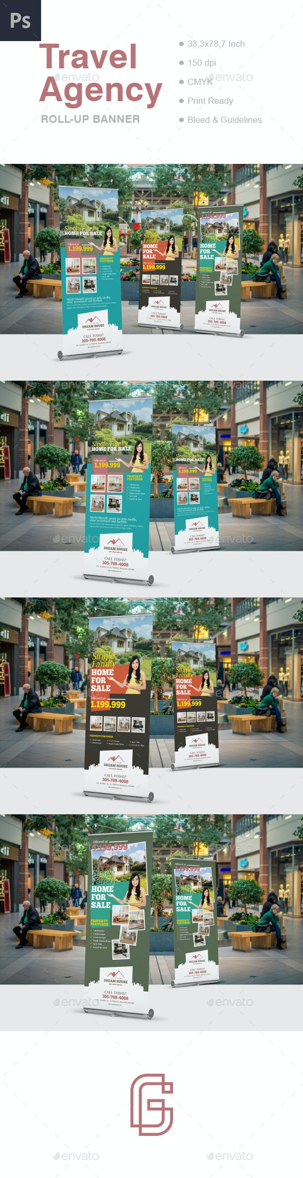 Real Estate Roll-Up Banner Template - Signage Print Templates