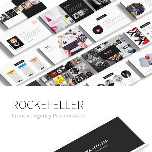 Rockefeller Creative Google Slide Presentation by giantdesign