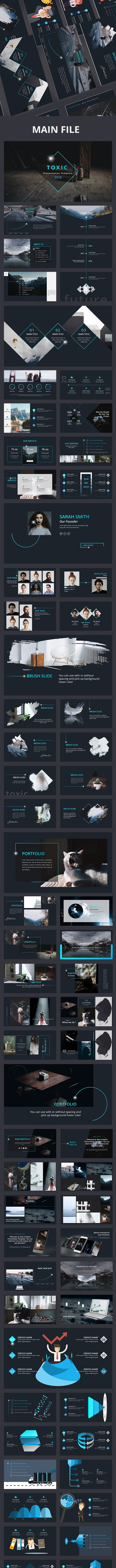 Toxic Creative Powerpoint Template - Creative PowerPoint Templates