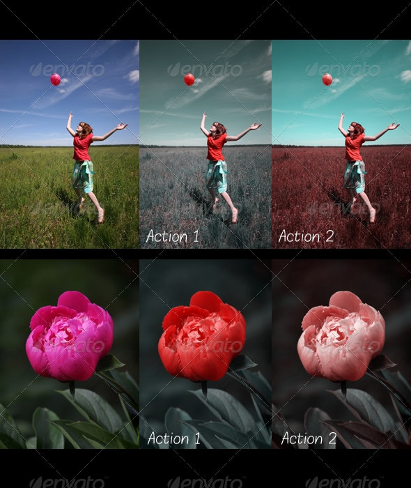 2 Technicolor Actions - Photo Effects Actions