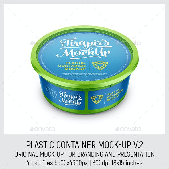 Plastic Container Mock-Up V.2