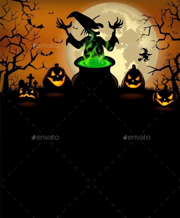 Halloween Party Invitation with Terrible Pumpkins - Halloween Seasons/Holidays