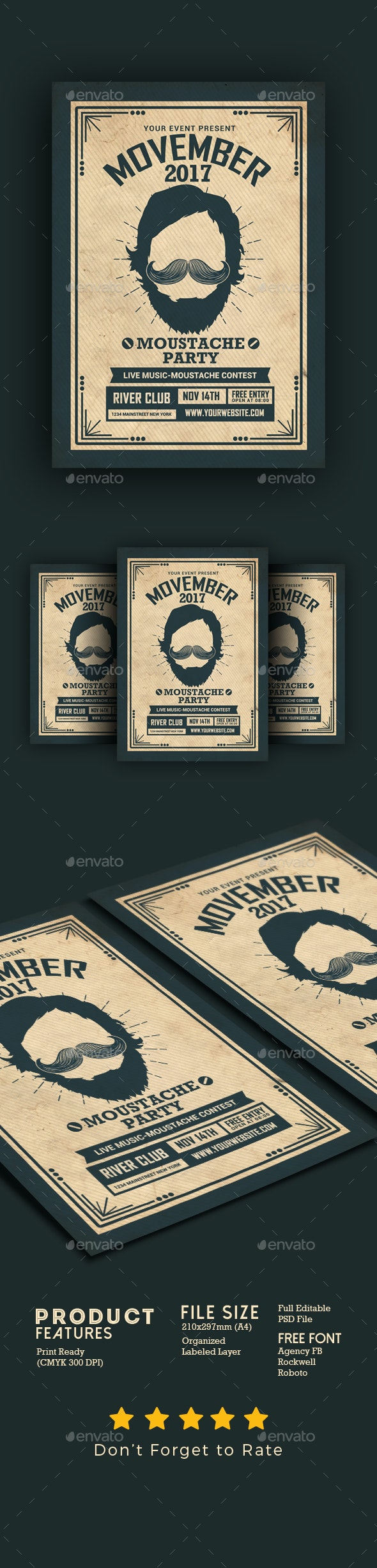 Movember Event Flyer - Events Flyers