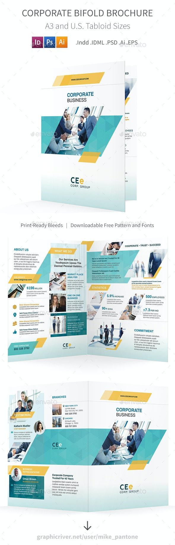 Corporate Bifold / Halffold Brochure 5 - Corporate Brochures