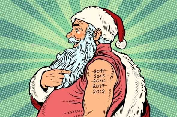 Santa Claus with Tattoos 2018 - People Characters