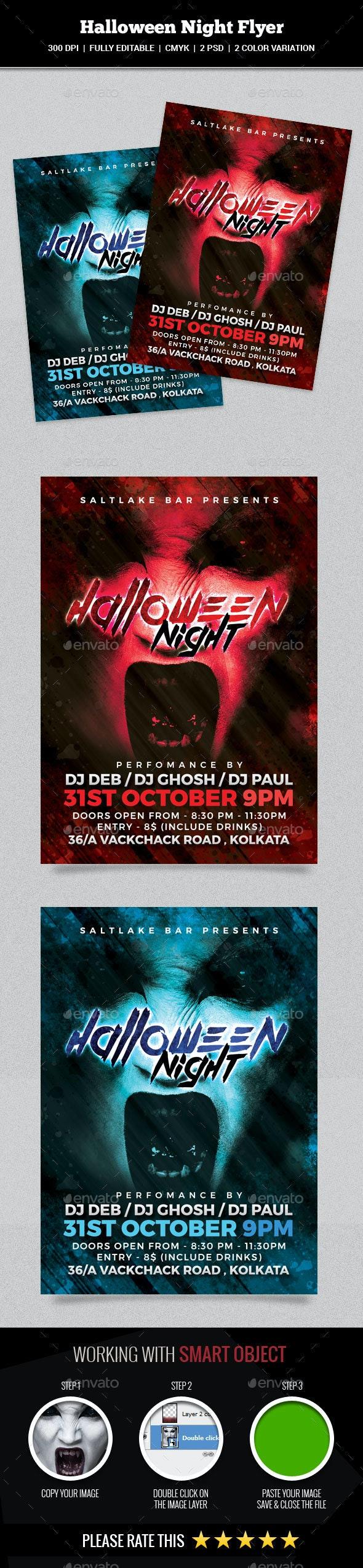 Halloween Night Flyer - Events Flyers