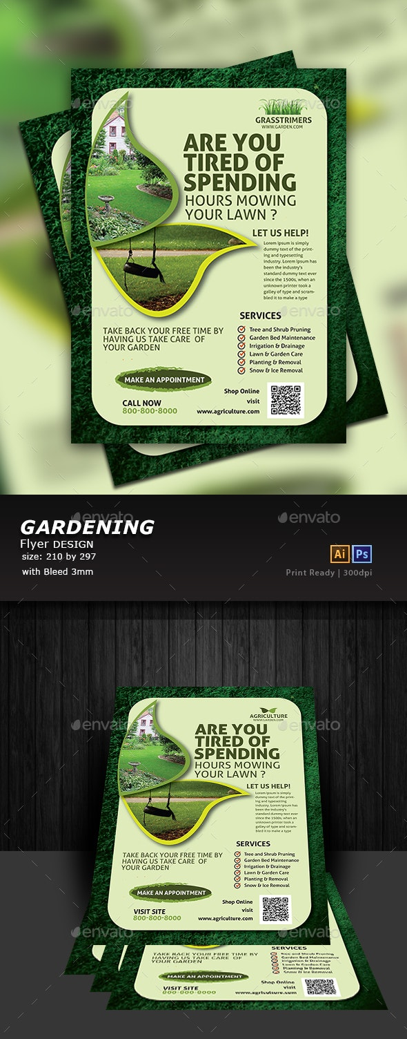 Lawn Care Flyer - Flyers Print Templates