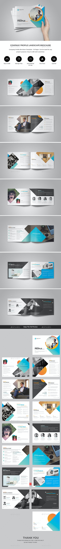Company Profile Landscape Brochure - Brochures Print Templates