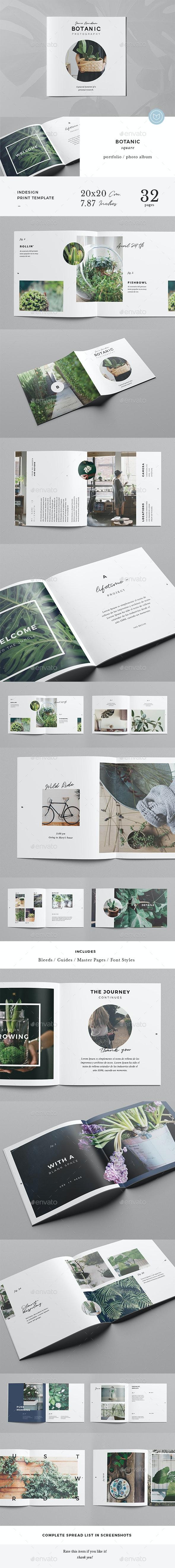 Botanic / Square Multipurpose Portfolio - Portfolio Brochures