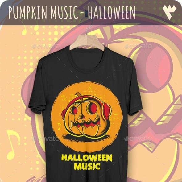 Pumpkin Music - Halloween T-Shirt