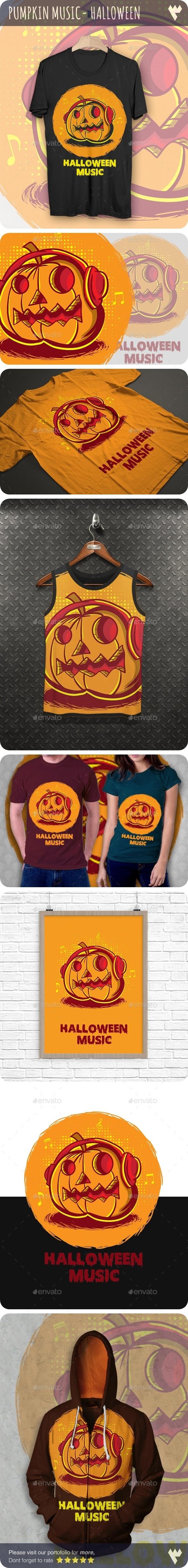 Pumpkin Music - Halloween T-Shirt - Designs T-Shirts