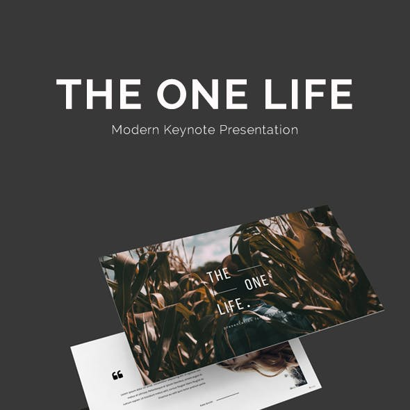 The One Life Keynote Presentation