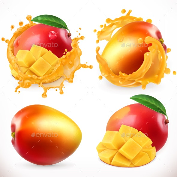 Mango Juice - Vectors
