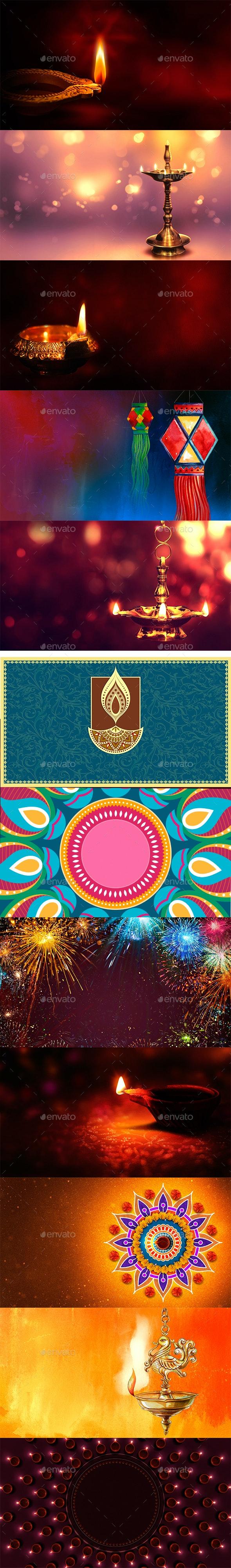 Happy Diwali - Backgrounds Graphics