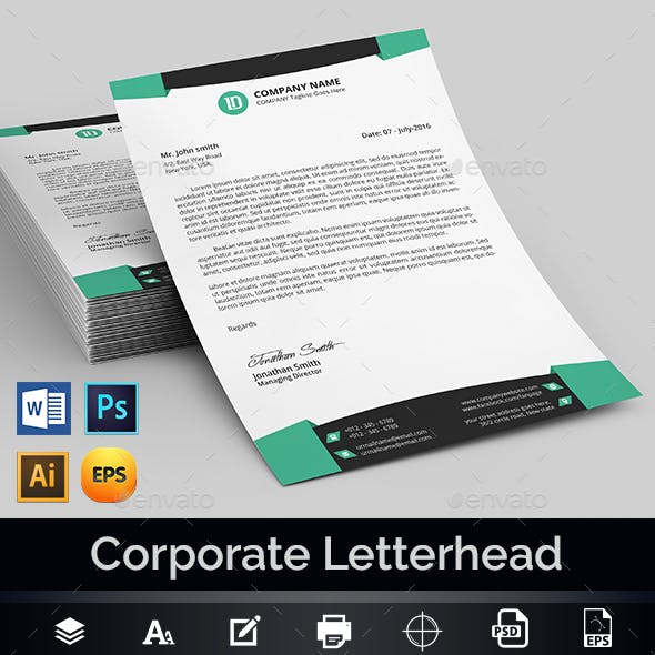 MS Word Letterhead Template