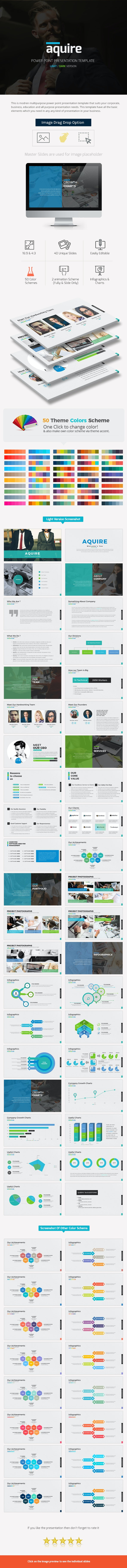 Aquire Power Point Presentation - Business PowerPoint Templates