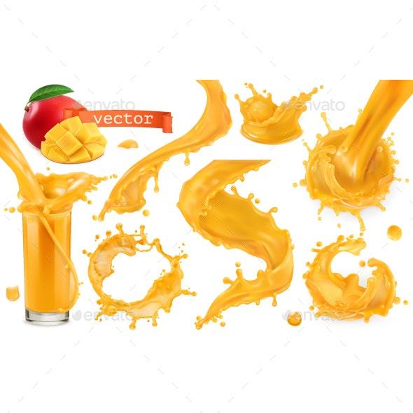 Orange Juice Splash - Food Objects
