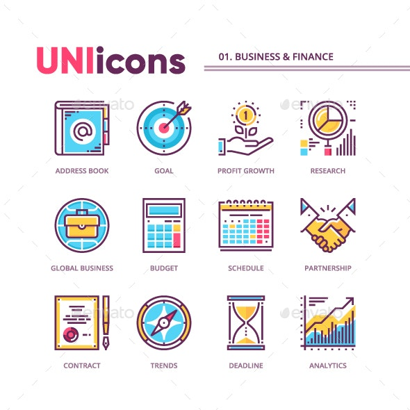 UNIicons 01. Business & finance - Icons