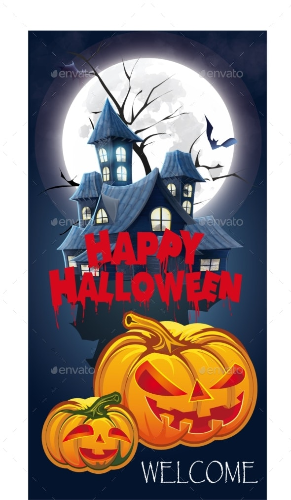 Halloween Invitation Flyer for a Party. - Backgrounds Decorative