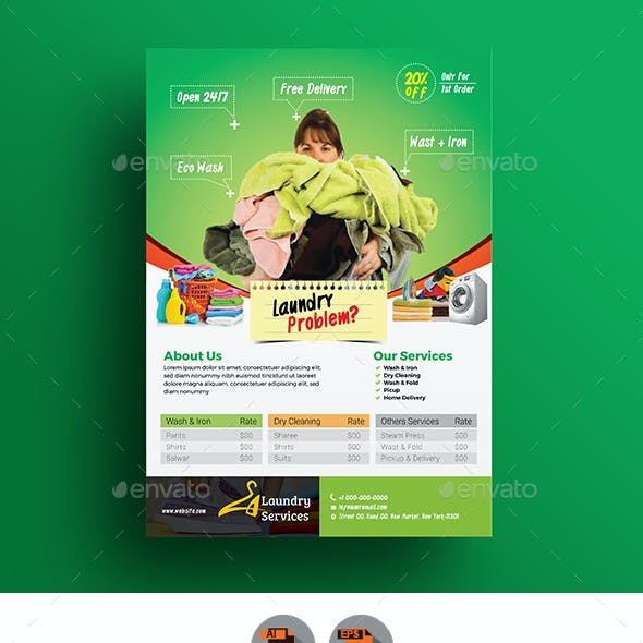 Laundry Services Flyer/Magazine Ad