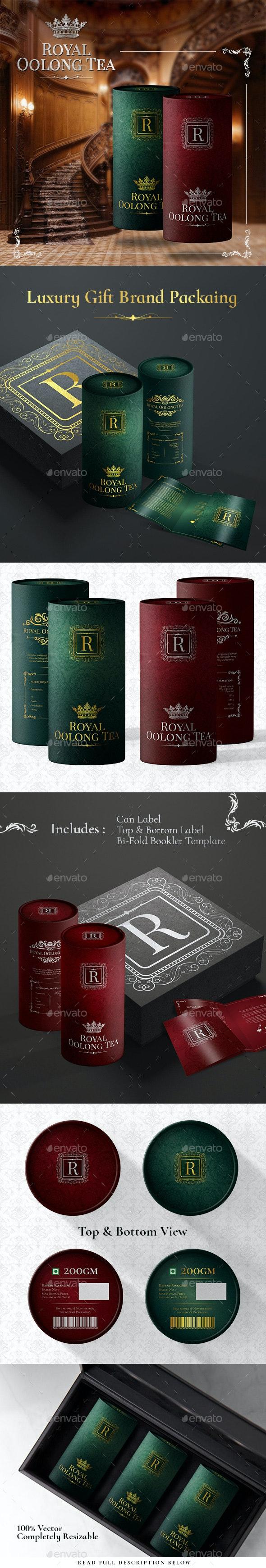 Royal Luxury Premium Gift Tea Packaging - Packaging Print Templates