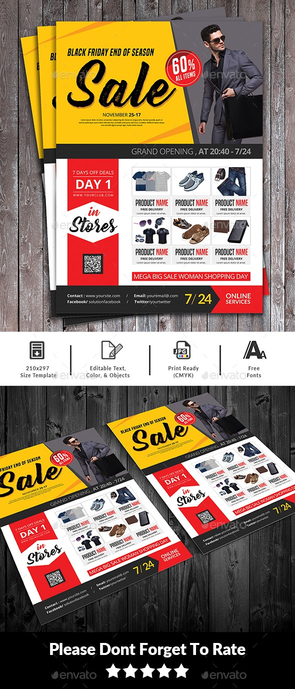 Black Friday Sale Flyer - Events Flyers