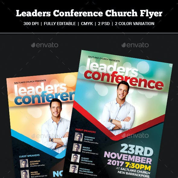 Leaders Conference Church Flyer
