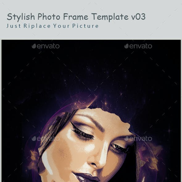 Stylish Photo Frame Template v03