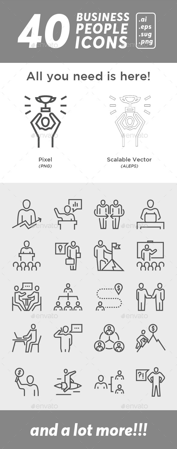 40 Business People Icon - Icons