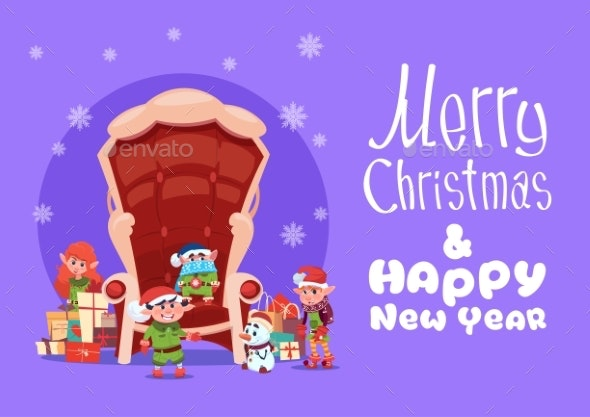 Merry Christmas And Happy New Year Greeting Card - Seasons/Holidays Conceptual