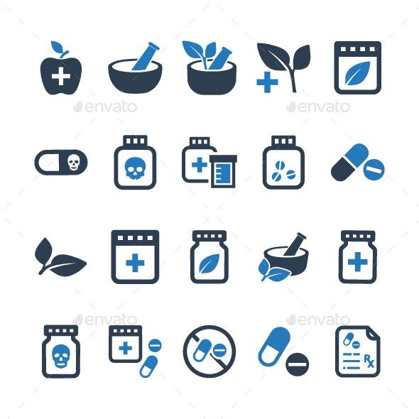 Medication Icons - Blue Version - Web Icons